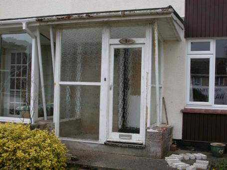 Porch before replacement